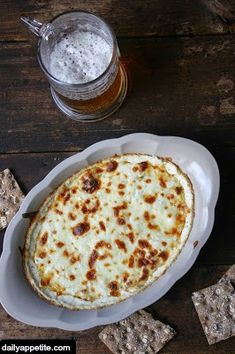 Hot and Bubbly Beer Cheese Dip.