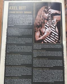 the actual issue of the #rockit #magazine #germany . #axelritt #emg #emgpickups #the_real_ironfinger #loxx