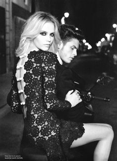 Natasha Poly and Baptiste photographed by Karl Lagerfeld.