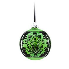 Disney The Haunted Mansion Glass Ball Ornament - Green | Disney StoreThe Haunted Mansion Glass Ball Ornament - Green - Gift-giving ghosts may follow you home from The Haunted Mansion when you hang these ''boo-ti-ful'' glass ball ornaments, inspired by our popular wallpaper pattern, on the family tree.