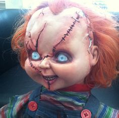 PRATENDE levensgrote CHUCKY Doll Charles Lee Ray Replica kinderspel Horror Prop door TheUrbanCloth