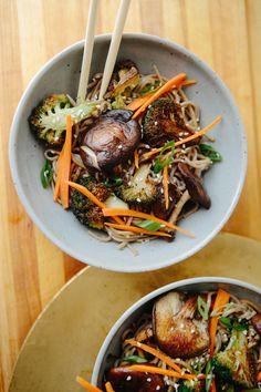 Shiitake Mushroom + Broccoli Soba Noodles   A Thought For Food
