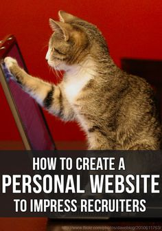 Awesome guide on how to create a personal website to showcase your work and your resume, and to impress recruiters!
