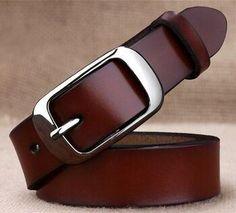 hotsales Women's strap brief plain belt all-match vintage cowhide decoration pin buckle jeans solid belt Genuine leather Casual Belt, Casual Pants, Fashion Belts, Leather Fashion, Cos Alto, Buckle Outfits, Buckle Jeans, Brown Belt, Black Belt
