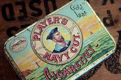 rare john player navy cut cigarette tin by gennamaria on Etsy, $35.00