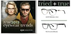 Two trendsetting #eyewear styles for F/W2015 from Modern Optical International
