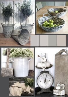 French country rustic color palette Whitewashed Chippy Shabby Chic French Country Rustic Swedish decor Idea