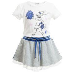 Completo FUN FUN con Lola Bunny gonna e t-shirt moda bimba spedizioni in tutta italia