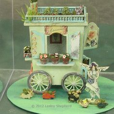 "dollhouse miniature flowers | contrast to Cindy Diamond's ""Stuck in the Mud"" vignette. This flower ..."