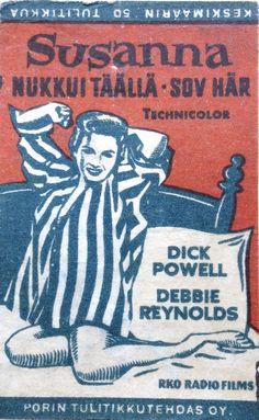 Old matchbox labels. Debbie Reynolds, Film Posters, Signage, Comic Books, Comics, Cover, Art, Art Background, Kunst
