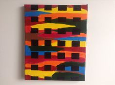 canvas abstract acrylic painting abstract by mybeautifulmonster