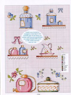 Gráficos Ponto Cruz Cross Stitch Kitchen, Mini Cross Stitch, Cross Stitch Heart, Cross Stitch Borders, Cross Stitching, Cross Stitch Embroidery, Cross Stitch Patterns, Stitches Wow, Cross Stitch Numbers