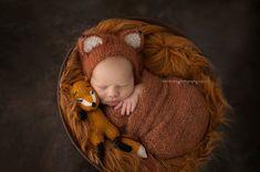 SALE Knit Fox SetNewborn Fox HatLuxurious Mohair by martenitza