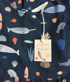 happy about this sea creatures dress today from my collaboration with Textiles, Textile Patterns, Textile Prints, Textile Design, Color Patterns, Print Patterns, Pattern Texture, Surface Pattern Design, Sea Illustration