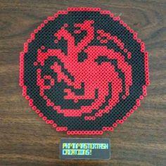 Targaryen - Game of Trones sigil perler beads by pkmnmastertash