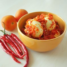 Telur Balado - Eggs with Chili Sauce