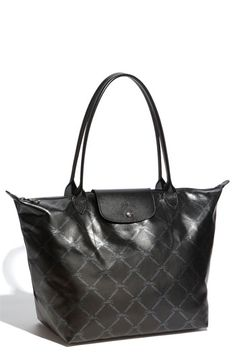 Longchamp 'LM Metal' Shoulder Tote- I bought this two christmases ago and I am still obsessed with it!