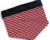 Echarpe façon Col ou Snood - Polaire gris-marin Jersey rayé : Mode garçons par petit-pote