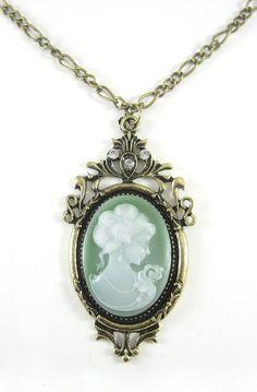 Susanna Cameo Necklace: I love cameo pendants.