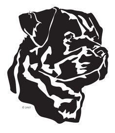 rot002d - Rottweiler Line Portrait
