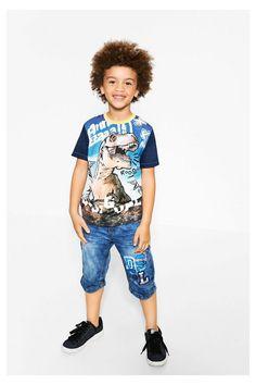 Camiseta azul de manga corta Manu | Desigual.com