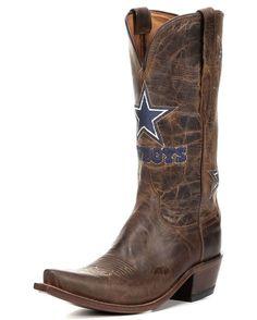 Women's Dallas Cowboys Tan Madras Boots,