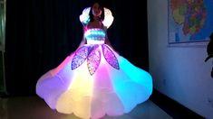 led light up inflatable dress Light Up Dresses, Light Dress, Led Costume, Costumes, Laser Show, Circus Performers, Led Dress, Stage Show, Dancer