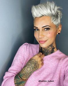 💓💓 I Hope Yo Pixie - Pixie Cut Short White Hair, Short Cropped Hair, Cut Her Hair, Hair A, Hair Cuts, Hair Stations, Beard Wax, Messy Bob Hairstyles, Crop Hair