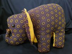 Stuffed african elephant soft toy, handcrafted, traditional shweshwe fabric African Elephant, African Animals, Pet Toys, Nursery Decor, Stuffed Elephant, Birthday Gifts, Trending Outfits, Unique Jewelry, Handmade Gifts