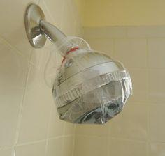 How To Make a Dirty Showerhead Look Like New Again