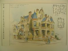 Residence of E. Aug. Neresheimer, 6th Ave Corner of 119th St, New York, NY, 1887, A. B. Jennings