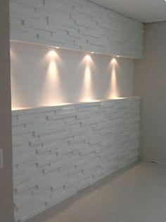 Estou querendo fazer uma parede 3D na minha sala mais oi menos nesse modelo 😍 Mas quero fazer tudo sozinha 💪 ... Stone Cladding, Wall Cladding, Tv Wall Design, Ceiling Design, Interior Walls, Home Interior Design, Rustic Bathroom Designs, Living Room Sofa Design, Entrance Decor
