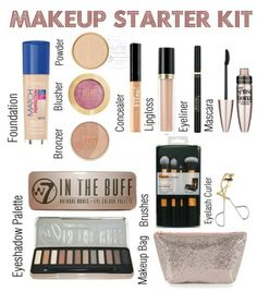 Drugstore makeup starter kit
