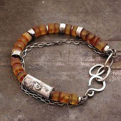 Christmas sale Baltic amber bracelet  • Chain bracelet • Raw  Sterling silver  925 by ewalompe on Etsy https://www.etsy.com/listing/250246674/christmas-sale-baltic-amber-bracelet