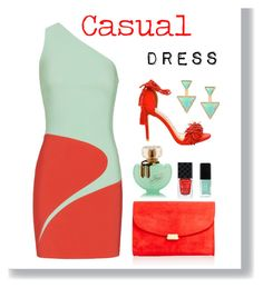 """Casual Dress"" by georgia-sotiriadi ❤ liked on Polyvore featuring Thierry Mugler, Mansur Gavriel, JINsoon, Gucci, Steve Madden and casualdress"