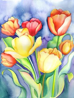 Acuarelas de flores                                                                                                                                                      Más