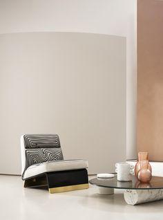 Marble Block, Retro Armchair, Single Sofa, Low Tables, Contemporary Design, Furniture Design, Lounge, House Design, Interior Design
