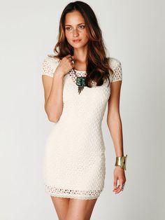 Cap Sleeve Gypsy Lace Dress