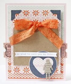 Glad to call you friend card by Gretchen McElveen Guest Designer for the Card Kitchen Kit Club using the January 2014 Card Kitchen Kit