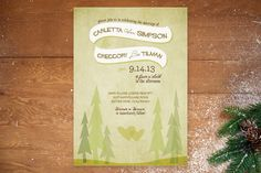 In the Woods Wedding Invitations by jenincmyk at minted.com