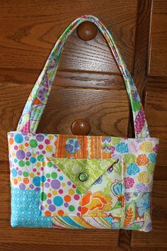 Fun Quilted Purse by QuiltedbyMarilee on Etsy, $25.00