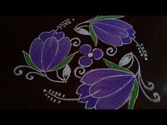 Simple// and easy daily flowers rangoli Dot's Rangoli Kolam Designs, Rangoli Designs With Dots, Kolam Rangoli, Flower Rangoli, Rangoli With Dots, Beautiful Rangoli Designs, Simple Rangoli, Wedding Hall Decorations, Muggulu Design