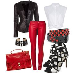 """""""Leather Pants"""" by fantasiegirl on Polyvore"""