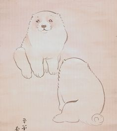 Puppies. 長沢芦雪 Rosetsu Nagasawa Japanese Art Modern, Japanese Prints, Classic Paintings, Animal Posters, Korean Art, Japanese Painting, Japan Art, Chinese Art, Painting & Drawing