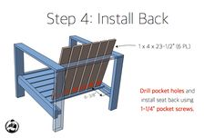 DIY Outdoor Lounge Chair Plans - Step 4