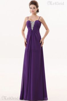 Prinzessin A-Line ärmellos Reißverschluss bodenlanges Abendkleid aus Chiffon…