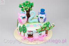 Tort z sówkami. torty dla dzieci, tort z sówkami, tort sowy, tort na urodzinki dziecka, http://rogwojskiego.pl