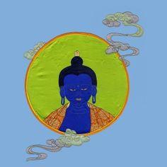 Medicine Buddha by Vajra Thangka 100% pure silk and hand stitched, artist Urgyen Sonam