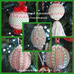 SewNso's Sewing Journal: Hand Smocked Christmas Ornaments