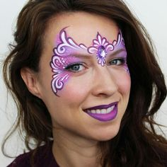 Princess Crown Face Painting by Ashlea Henson